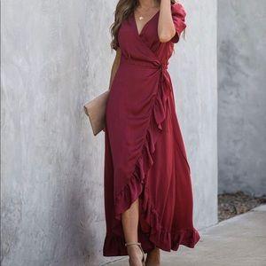 Vici Wrap High Low Dress